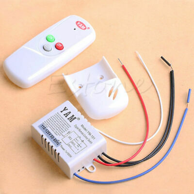 110V Anti-interference Wireless 1Way Light Lamp Remote Control Switch ON/OFF