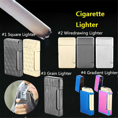 Portable Cigarette Lighter Metal Small Butane Gas Lighter Windproof Without Fuel