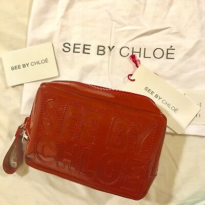 05457c4769c SEE BY CHLOE Wallet Purse Bifold Red Brown Woman Authentic Used P252 ...