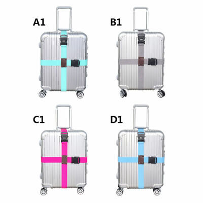Adjustable Strong Extra Safety Travel Suitcase Luggage Baggage Straps Tie Belt D