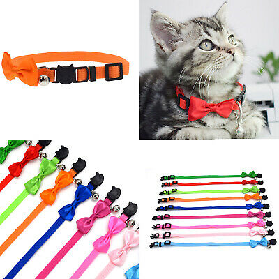 Dog Cat Pet Bowknot Cute Bow Tie Bell Adjustable Puppy Kitten Necktie Collar AU