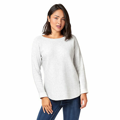 NEW Jeanswest Womens Mimi Double Face Batwing Sleeve Knit Pullover Oatmeal/Ivory
