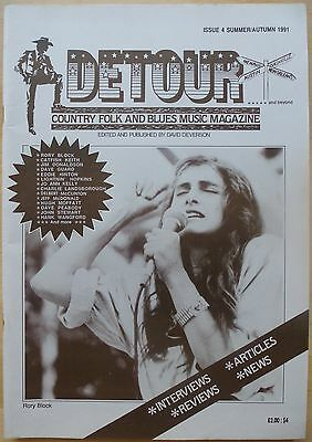 Detour Magazine: Issue 4 Summer/Autumn 1991 Country, Folk And Blues  Nm