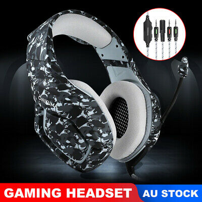 ONIKUMA K1 Mic Stereo Surround Bass Gaming Headset for PC Laptop PS4 Xbox One WF