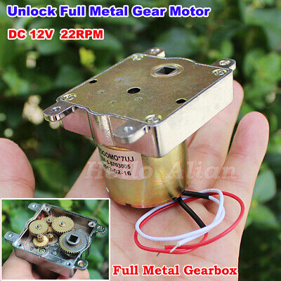 DC 3V-6V 5V 55RPM Mini N20 Full Metal Gear Motor Slow Speed DIY Robot Car Lock
