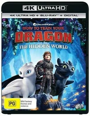 How To Train Your Dragon 3 The Hidden World 4K Ultra HD + Blu-Ray BRAND NEW