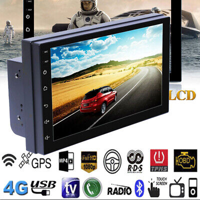 "US 7"" Android 8.1 WiFi 2Din Quad Core GPS Navi Car Stereo MP5 Player AM FM Radio"
