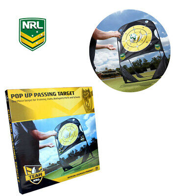 NRL Summit Rugby League Official Pop Up Training Passing Target with Carry Bag