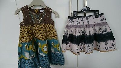 Next girl summer party holiday dress skirt 2-3 years BNWT