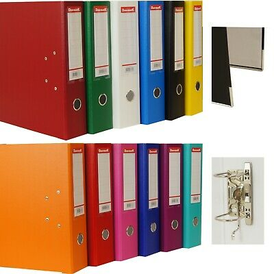 5 x A4 LARGE LEVER ARCH FILES FOLDERS DOCUMENT STORAGE BLUE, BLACK, GREEN WHITE