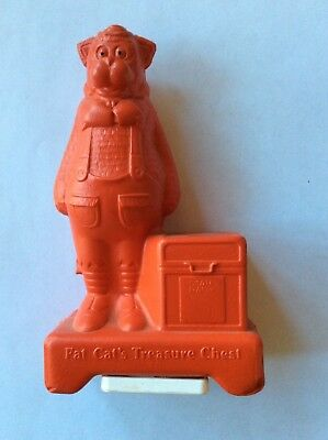 Vintage Fat Cat's Treasure Chest Coin Bank State Bank nice condition