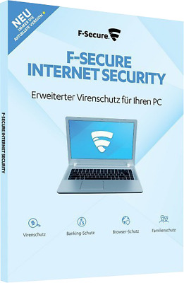 F-Secure Internet Security 2019 Vollversion, 1 Gerät 1 Jahr, Download/ESD