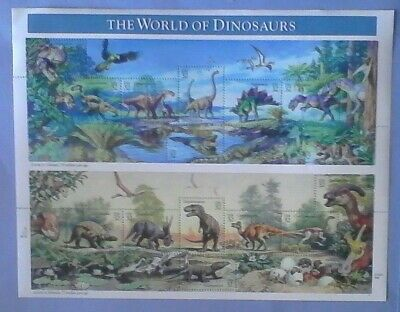 US Stamps, 1997 the World of DInosaurs, Souvenir Sheet, Scott # 3136