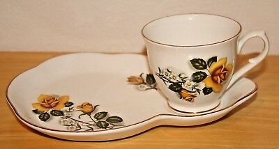 2 (1 pictured) James Kent Old Foley Tennis/Buffet Cup & Saucer, Yellow Rose, VGC