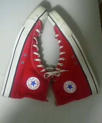 Vintage USA-MADE Classic Red HI Top Converse All Star Chuck Taylor shoes Sz 16