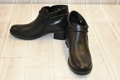 c652a2fbec30e David Tate Miller Calfskin Leather Ankle Booties, Women's Size 8 M, Black