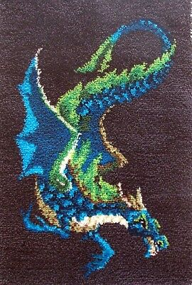 Craftways  Latch Hook Rug Kit  Water  Dragon""