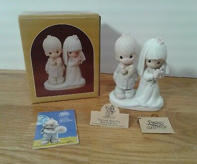 Precious Moments Bride & Groom The Lord Bless You And Keep You Figurine E-3114