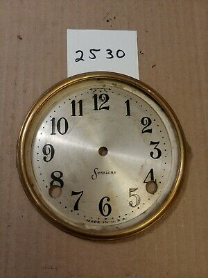Sessions  Tambour Mantle Clock Dial And Bezel No Glass
