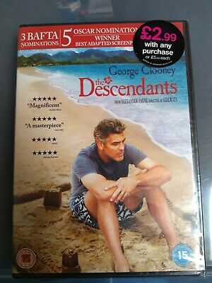 The descendants dvd - brand new sealed packaging rated 15 - DVD