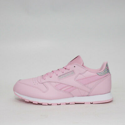 ce69ca76bc61b Womens Reebok Classic Leather Pastel Pink Silver Trainers (TGF26) RRP   £42.99