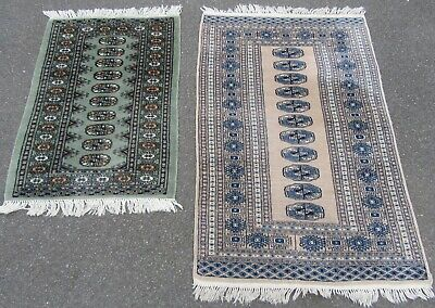 2 X Old Vintage Country House Pakistan Bokhara Rug Rugs. 2 For Price 1 !!!!!!!!!
