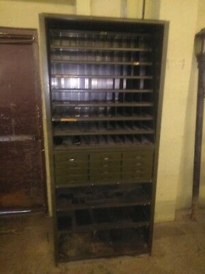 LYONS Industrial Metal 12 Drawer, 88 Pigeon Hole Parts Bin Cabinet / Shelf