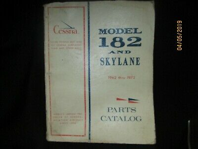 Cessna Aircraft 1962-1972 Model 182 & Skylane Parts Catalog Manual Original Oem