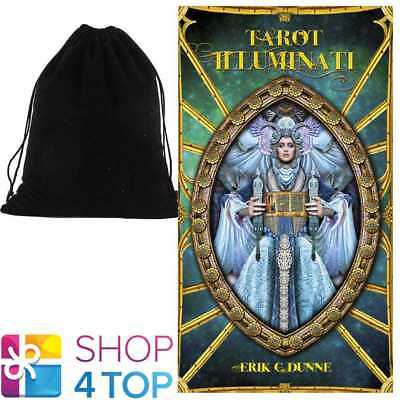 Tarot Illuminati Deck Cards Dunne Esoteric Fortune Lo Scarabeo With Velvet Bag