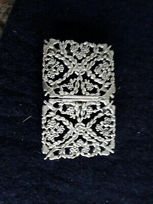"""Beautiful Decorated Solid Silver Nurses Buckle 2"""" By 1"""""""