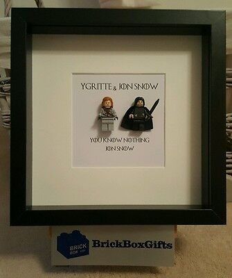 Game of Thrones GoT 3D Frame Jon Snow Ygritte you know nothing Jon Snow
