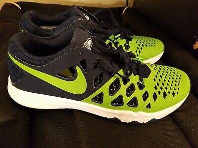 90a36bc46355 NIKE Seattle Seahawks Men Running Shoe 10 Train Speed 4 AMP 848587-30  Superfeet