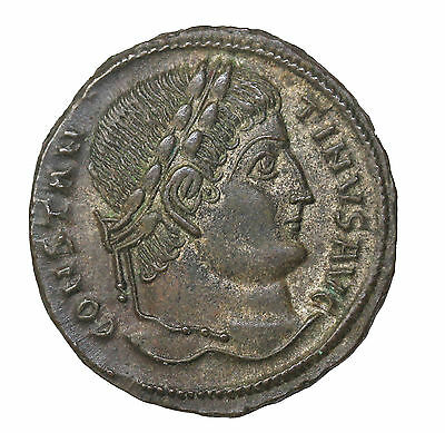 Constantine I The Great 328-329 AD AE Follis Thessalonika Mint RIC.153