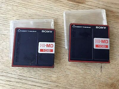 Lot De 2 Minidisc Hi-md Sony 1go Rare Tbe