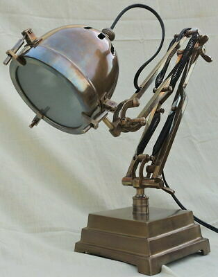 Nautical Desk Lamp Adjustable Brown Table Lamp For Home Decor
