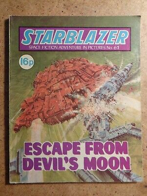 Starblazer Comic No.61: Escape From Devil's Moon. Space Fiction In Pictures 1981