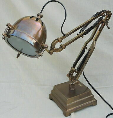 Antique Brown Desk Lamp Handmade Table Light