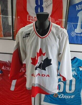 maillot jersey shirt trikot canada vintage hockey nhl olympic games 1998 bauer M