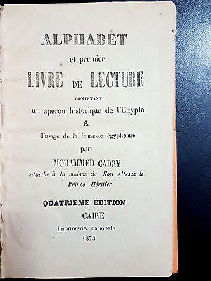ANTIQE ARABIC FRENCH DICTIONARY.  ALPHABET et PREMIER LIVRE DE LECTURE. 1873