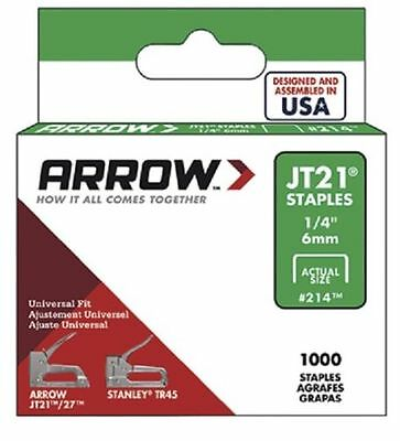 Arrow - JT21 T27 Staples 6mm (1/4in) Box 1000 Free Postage
