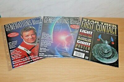 Star Trek - 3  Poster Magazines. Generations & First Contact Movies. 1995 & 1997