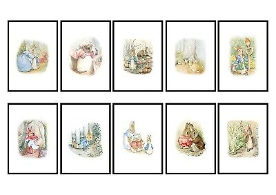 Beatrix Potter Peter Rabbit Art Drawings Christening Gift A4 Print Only
