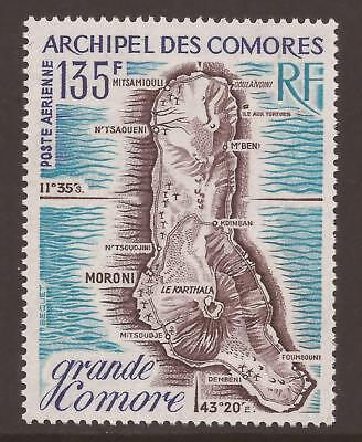 COMORO ISLANDS 1973 SG136 135F Map of Great Comoro MNH (JB3742)