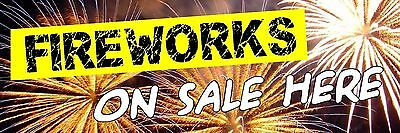 Fireworks Display Spectacular YOUR date and TIME PVC Printed Banner 6024