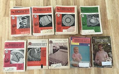 Vintage The Workbasket Sewing Crafting Magazine Lot of 57 Collector Item