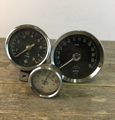 Vintage Smiths Rev Counter RVI2423/01 Gauge & Two Other Examples.