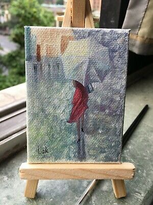 Little Girl By Chi Lok Decorative Arts Honest Aceo Original Hand Painting Oil Painting On Canvas