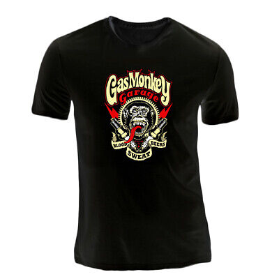 Camiseta Gas Monkey Garage Mono Chimpance Blood Sweat Beers