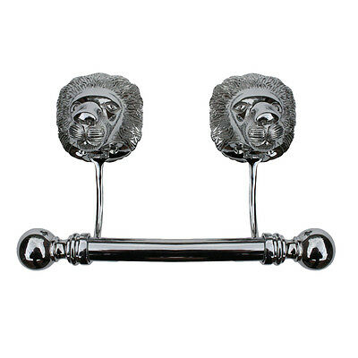 Antique Toilet Paper Holder Wall Mount Chrome Lions Tissue Holder for Bathroom