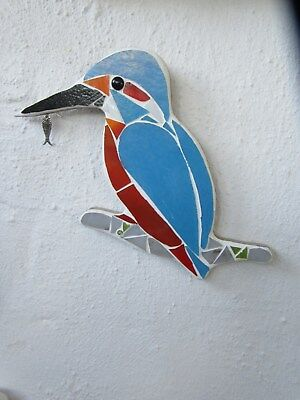 Stained Glass Mosaic Kingfisher